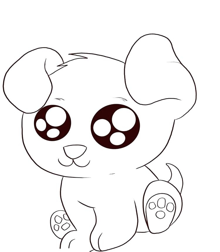 750x859 Cartoon Puppy Coloring Pages Coloring Pages Puppy Puppy Love Free