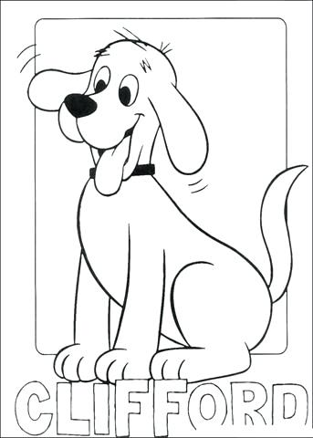 343x480 Clifford Coloring Page The Big Red Dog Coloring Pages Printable