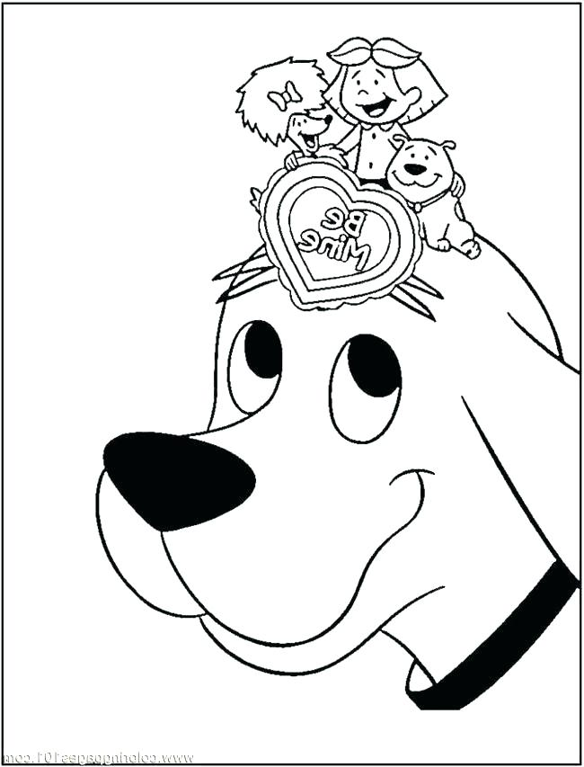 650x853 Clifford Coloring Pages Fishing Coloring Page Clifford Christmas