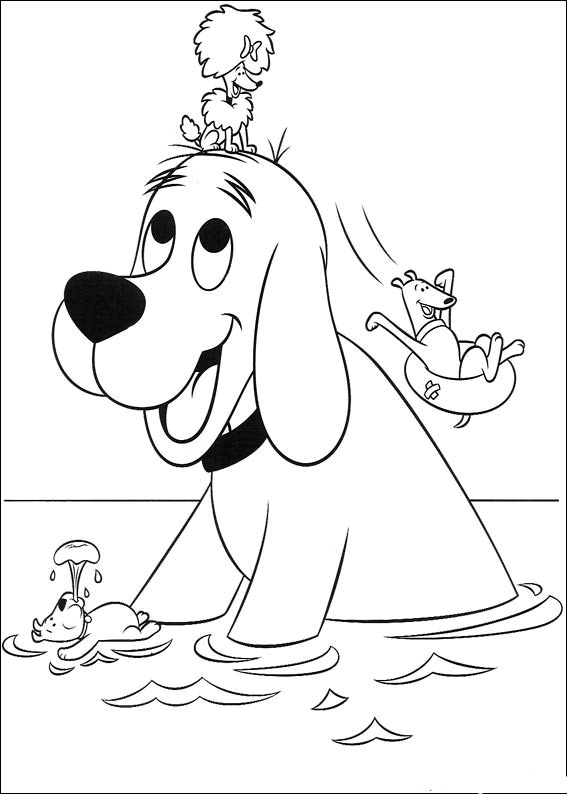 567x794 Clifford The Big Red Dog Coloring Pages For Preschoolers