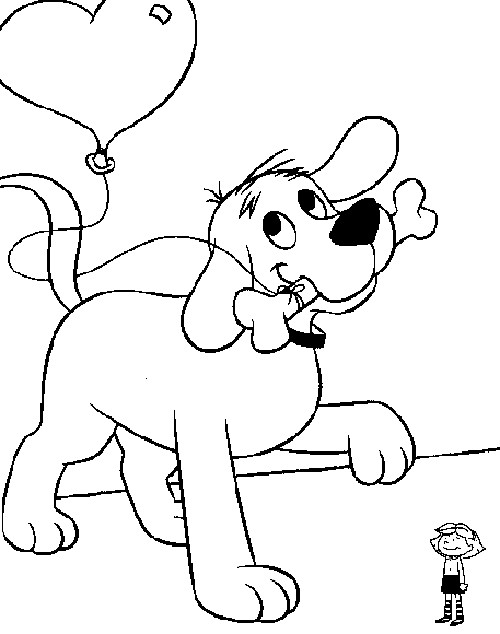 500x634 Clifford Puppy Days Coloring Pages New Clifford Coloring Pages