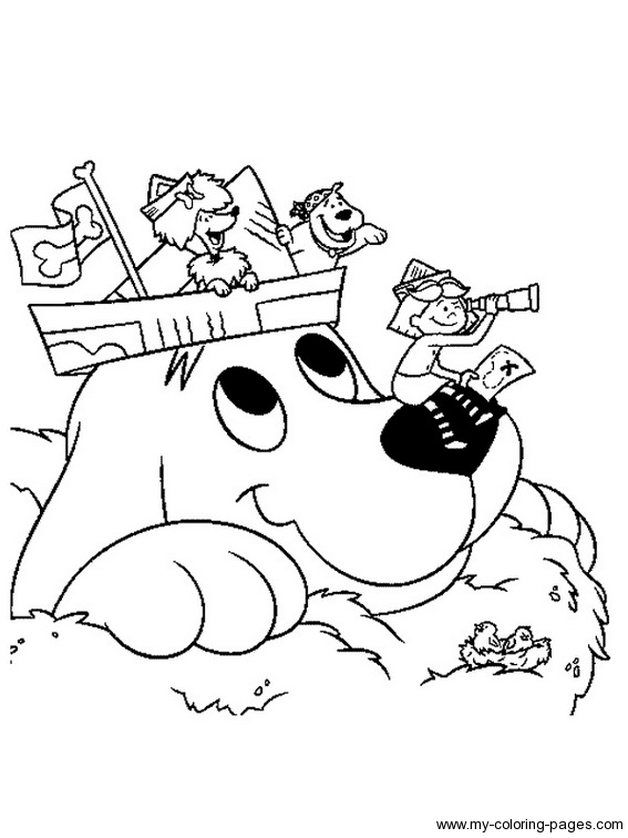 567x756 Puppy Clifford Big Red Dog Coloring Page The Big Red Dog Coloring