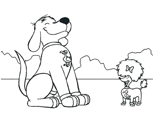 600x489 Clifford Coloring Page Coloring Pages Coloring Pages The Big Red