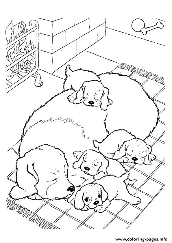 595x842 Puppy Coloring Pages To Print Puppy Coloring Books Puppy To Print