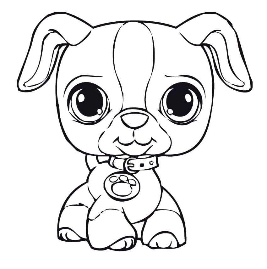 850x855 Best Puppy Coloring Pages Printable Free Printable