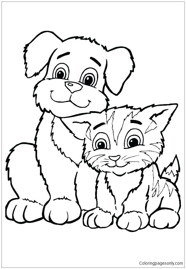 608x881 Puppy Coloring Book