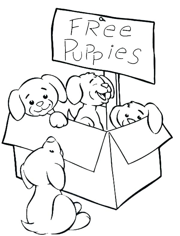 600x786 Puppy Coloring Page Printable Coloring Ideas Pro