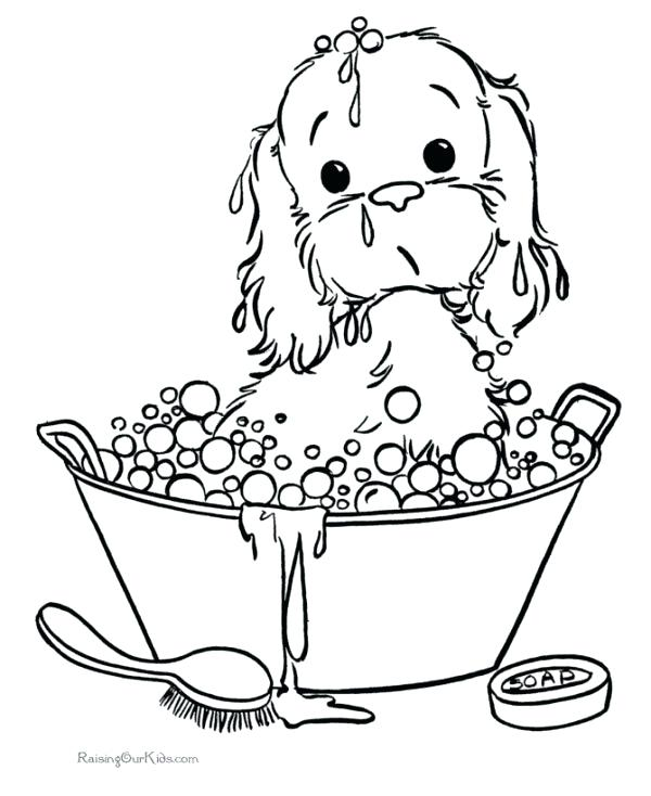 600x734 Coloring Sheets Of Puppies Puppy Coloring Pictures Printable Pages