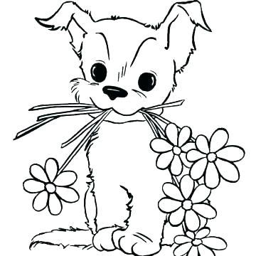 Puppy Coloring Pages To Print Free At Getdrawings Com Free For
