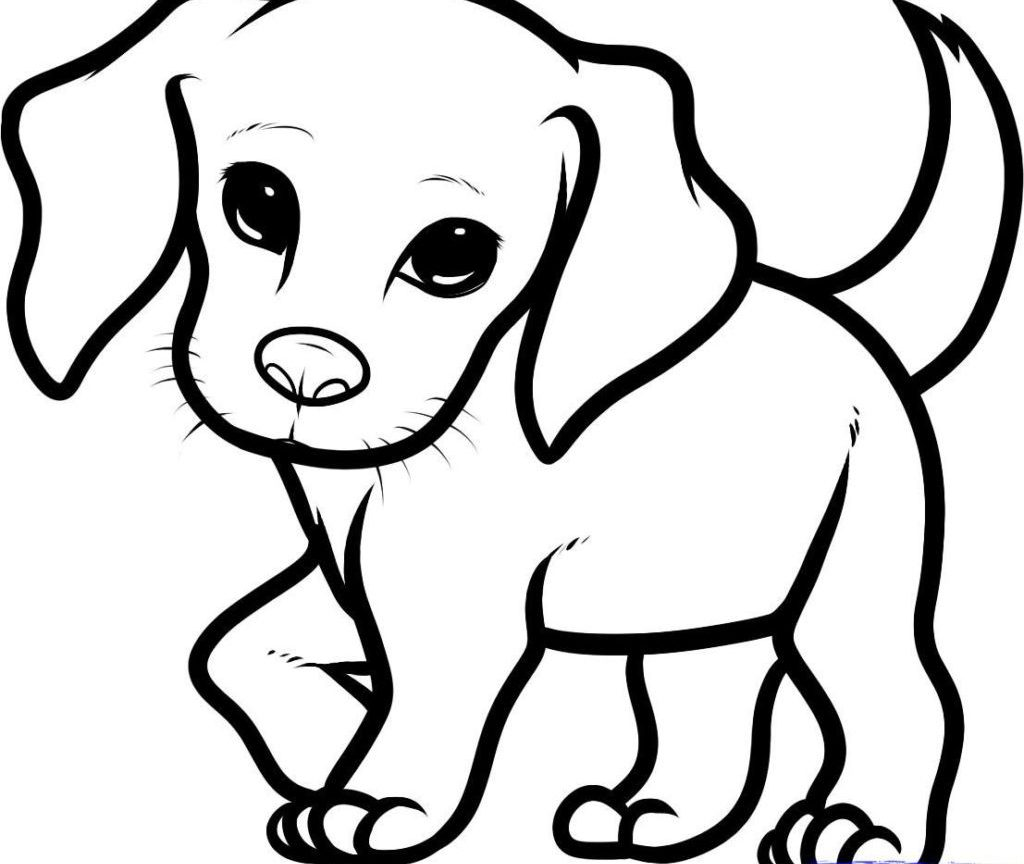 Christmas Puppy Coloring Pages