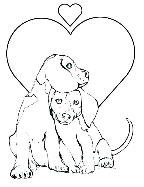 500x652 Puppy Coloring Picture Coloring Page Of A Puppy Puppy Coloring