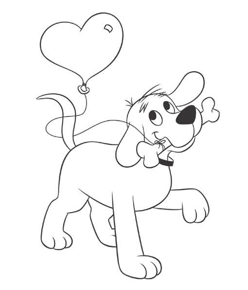 510x595 Here's Clifford With Balloon For You! Give Someone Special
