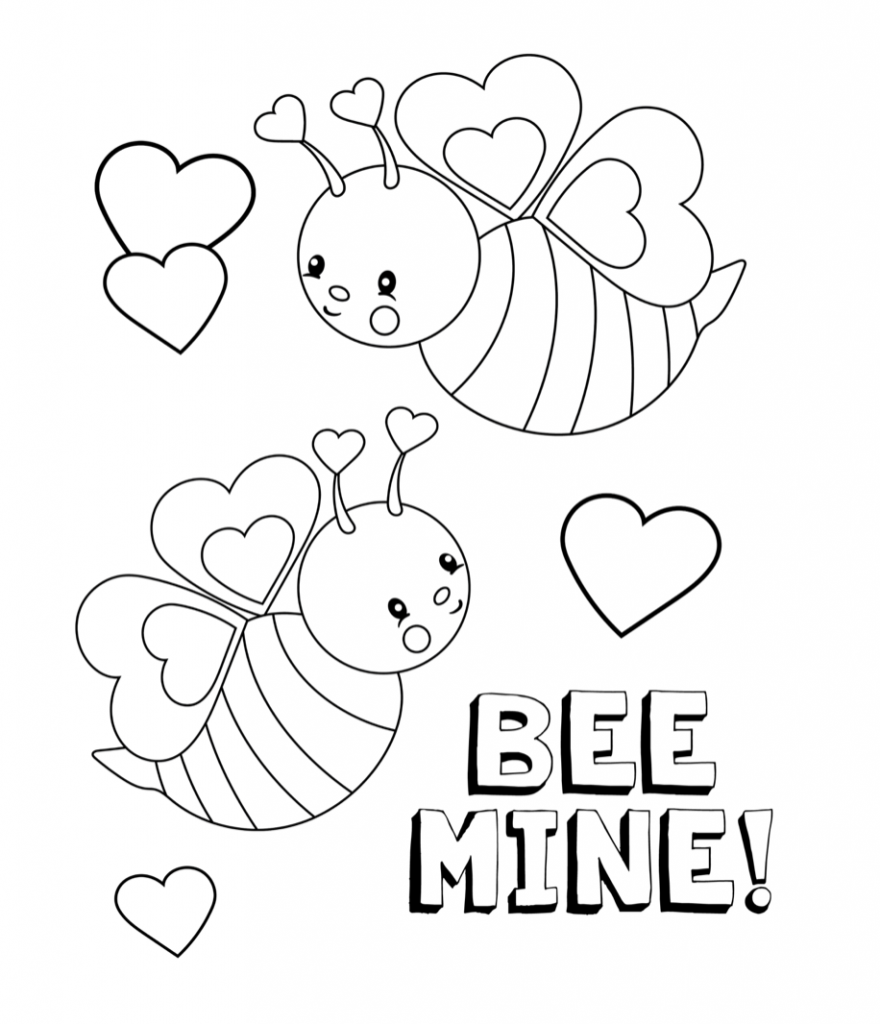 880x1024 Valentines Coloring Pages