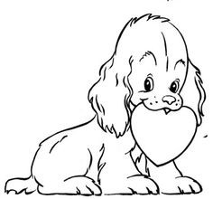 236x220 Valentines Coloring Pages Beautiful Puppy Valentine Coloring Page