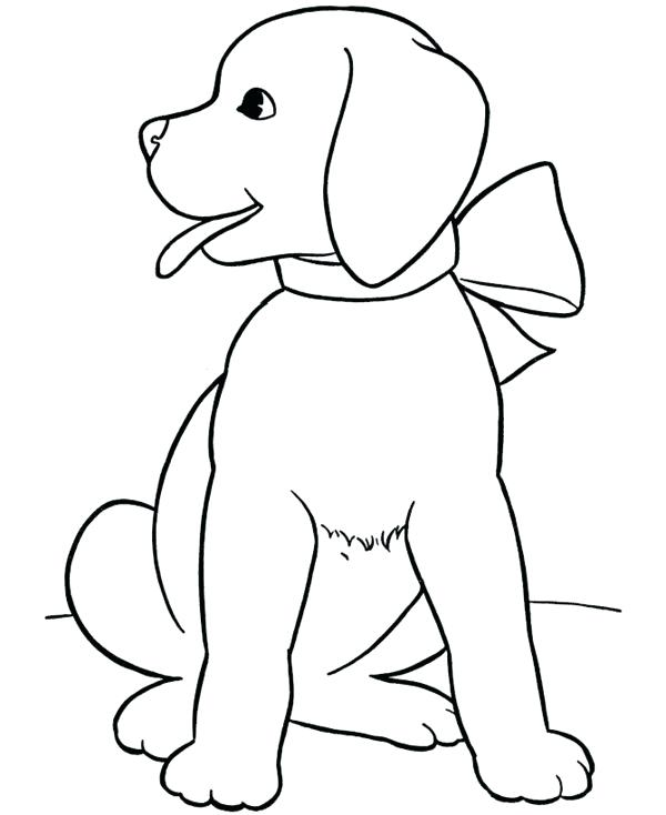 600x734 Puppy Color Pages