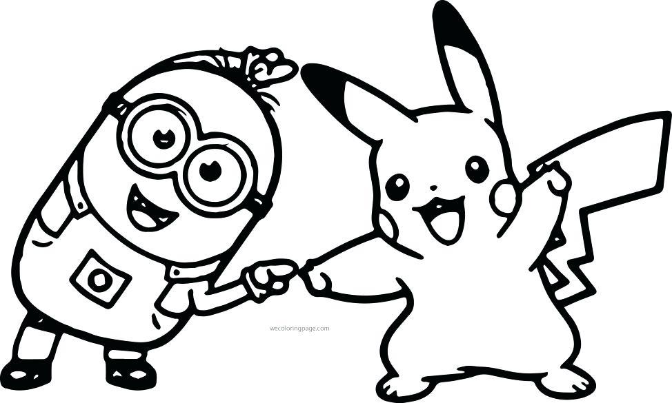 974x585 Despicable Me Purple Minions Coloring Pages Minion Free Download