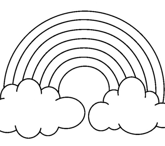 678x600 Rainbow Picture To Colour Rainbow Pictures To Colour Coloring Page