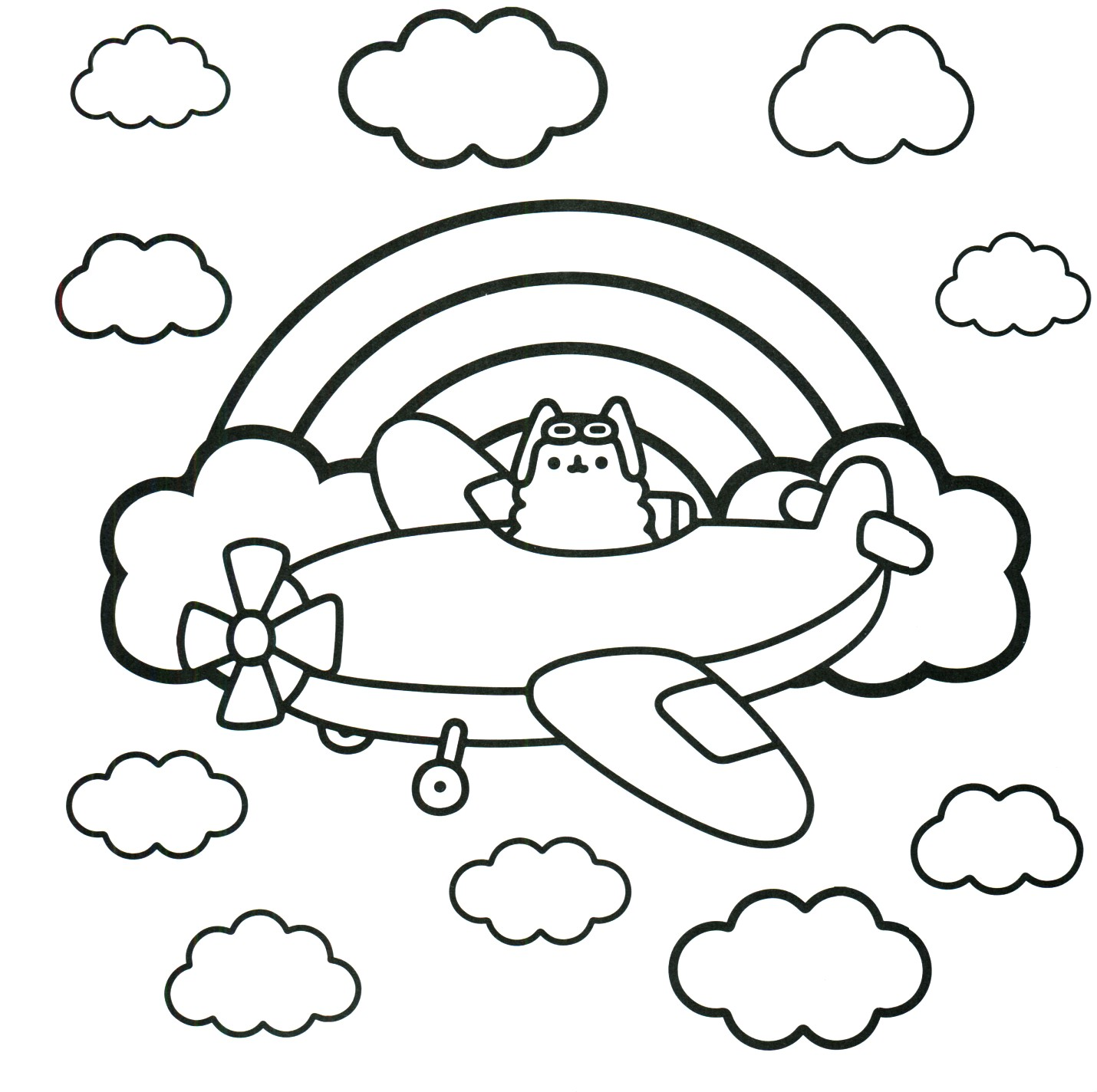Pusheen Cat Coloring Pages At Getdrawings Com Free For