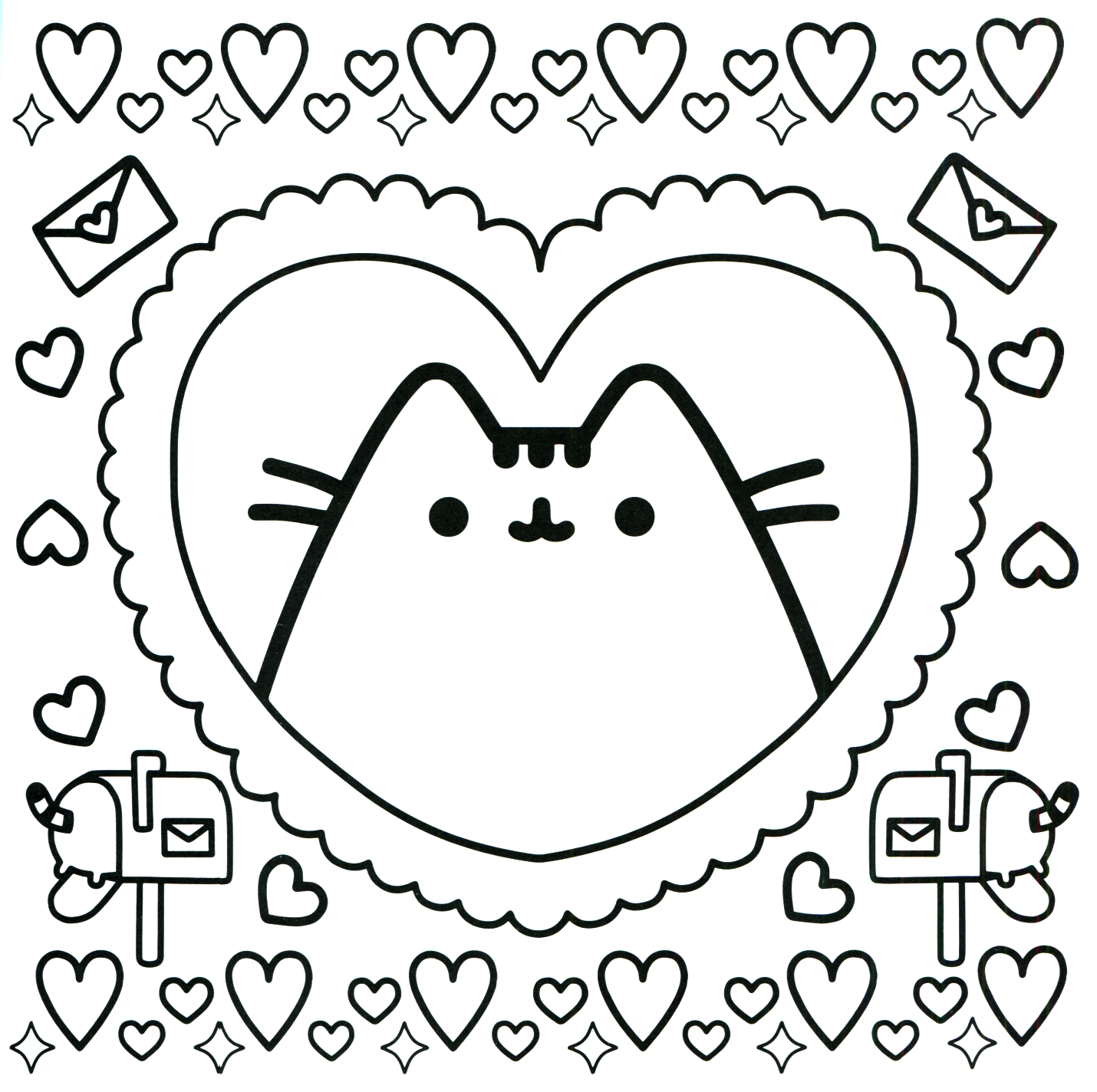 Pusheen Coloring Pages Printable At Getdrawings Com Free For