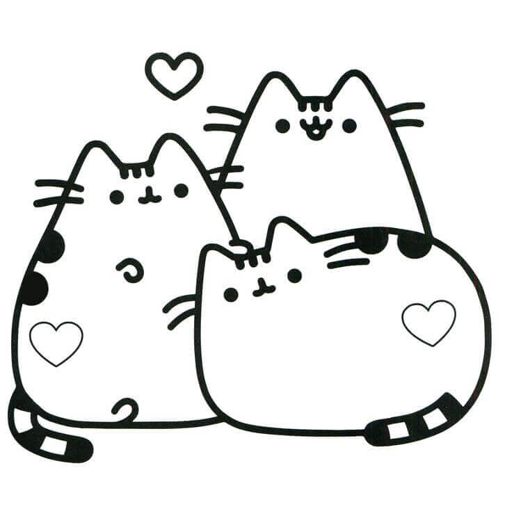 Pusheen Coloring Pages To Print