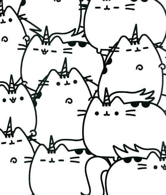 Pusheen Coloring Pages To Print At Getdrawings Free Download