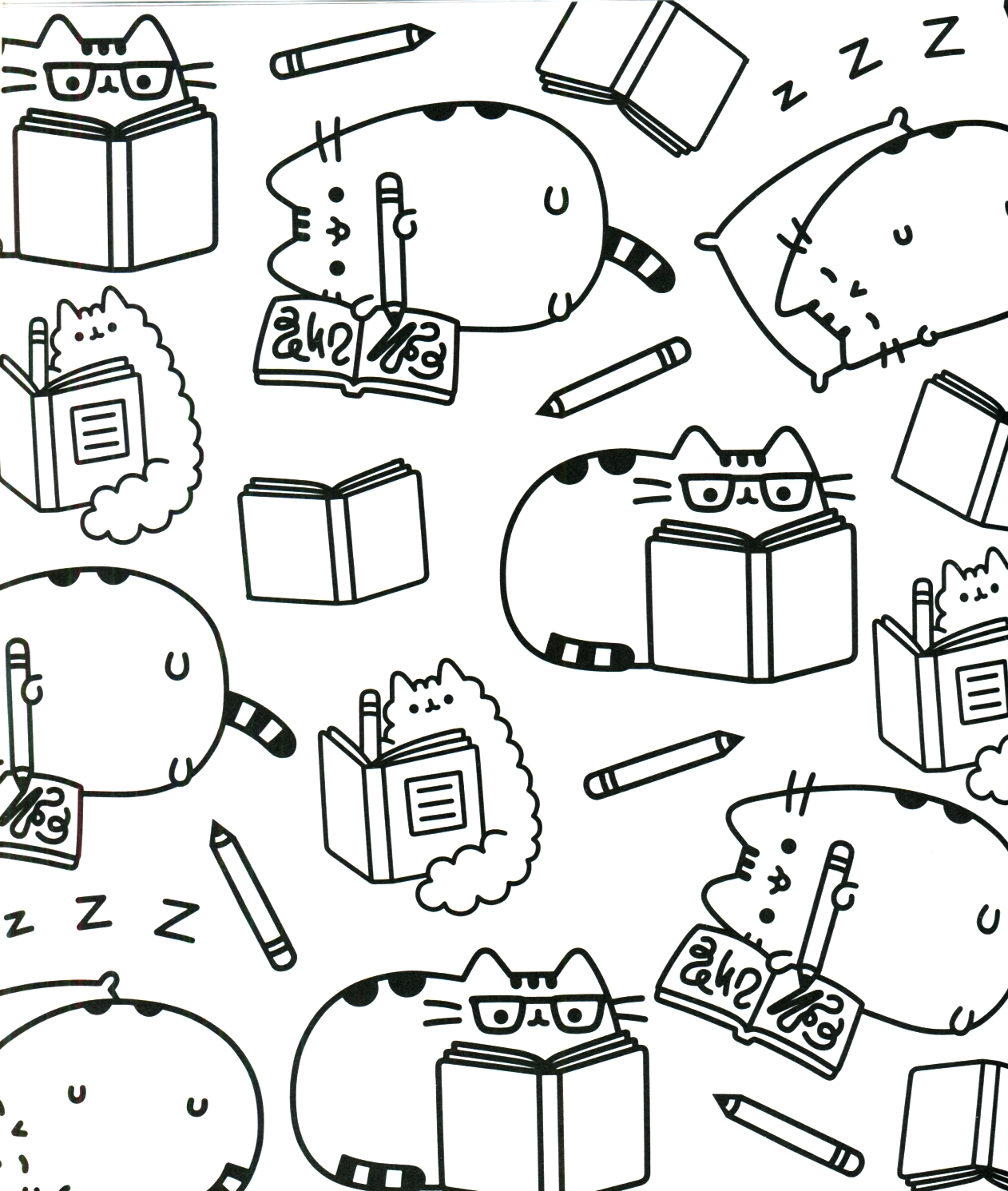 graphic about Pusheen Coloring Pages Printable named Pusheen Coloring Internet pages In direction of Print at  No cost