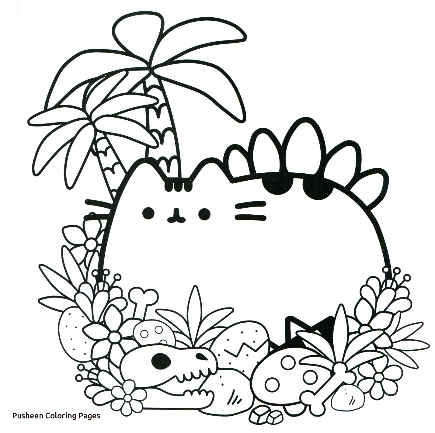 photograph relating to Pusheen Printable named Pusheen Coloring Webpages In the direction of Print at  Free of charge