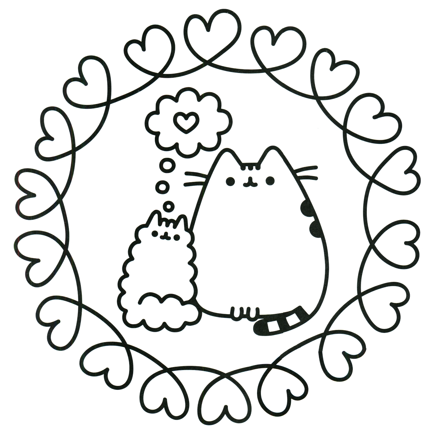 This is a photo of Genius Pusheen Halloween Coloring Pages