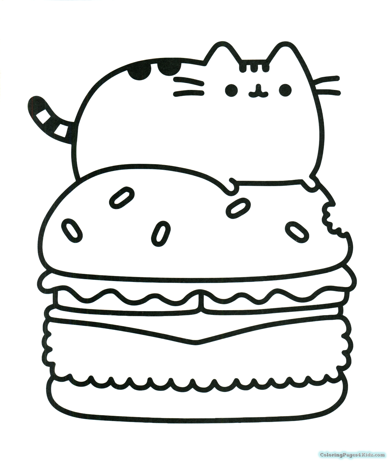 Pusheen Unicorn Coloring Pages At Getdrawings Com Free For