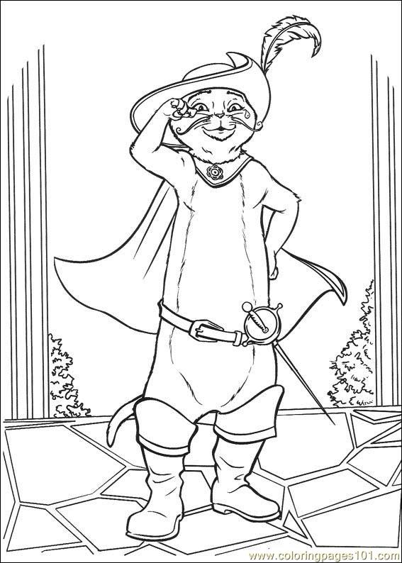 567x794 Puss In Boots Coloring Page