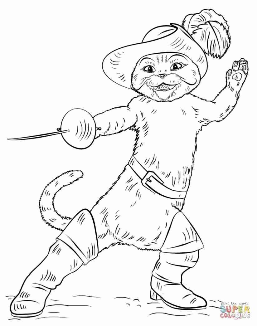 824x1045 Puss In Boots Coloring Page Free Printable Pages Lively Olegratiy
