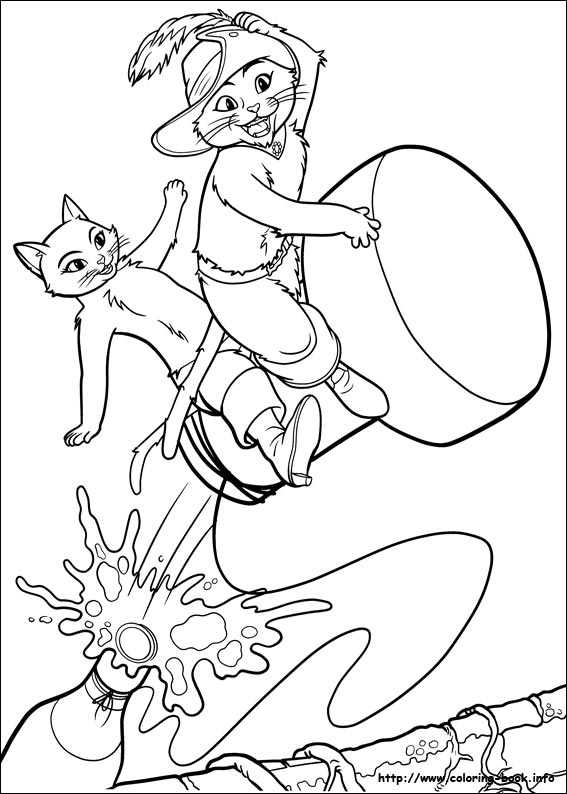 567x794 Puss In Boots Coloring Pages On Coloring