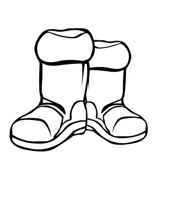 568x735 Boots Coloring Page