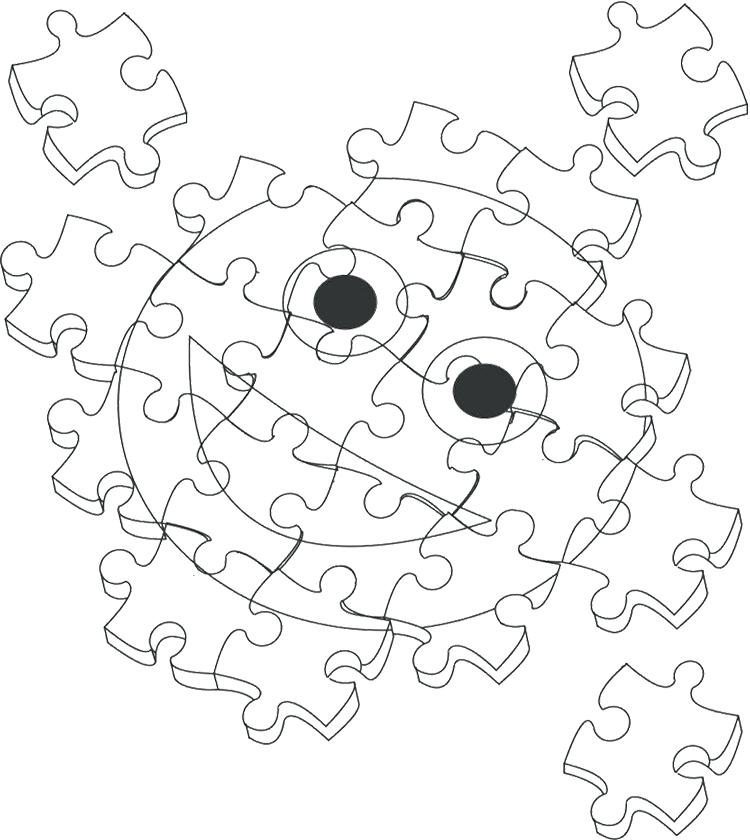 750x840 Puzzle Coloring Pages Coloring Page Jigsaw Heart Halloween Maze