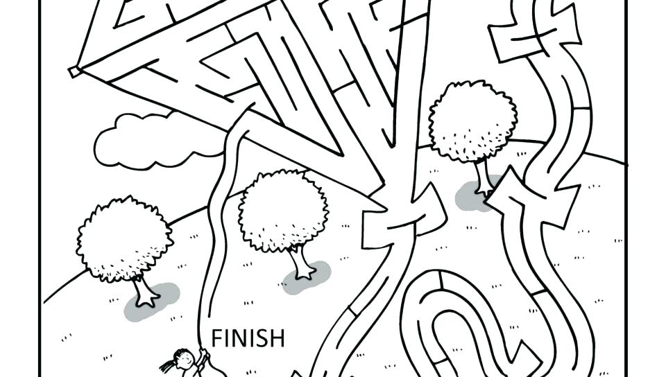 960x544 Puzzle Coloring Pages Construction Maze Summer Camp Coloring Pages