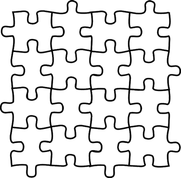 610x601 Puzzle Coloring Pages Puzzle Coloring Pages Coloring Pages