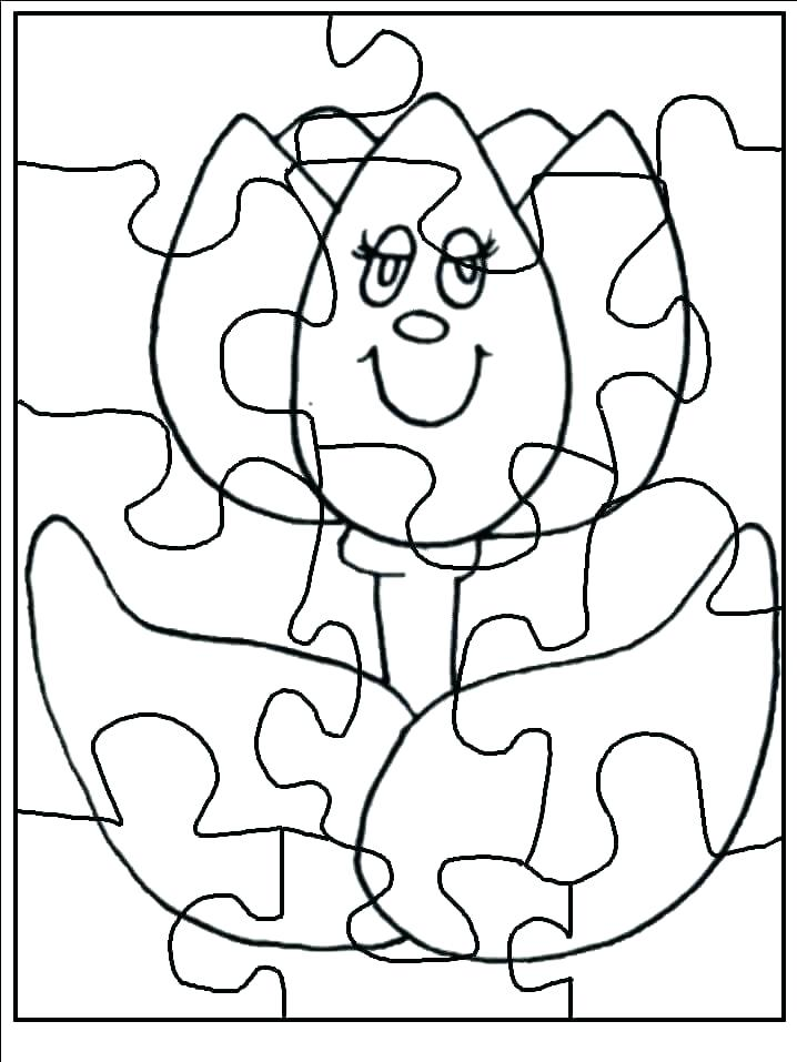 718x957 Puzzle Coloring Pages Puzzle Piece Coloring Page Pages A Make