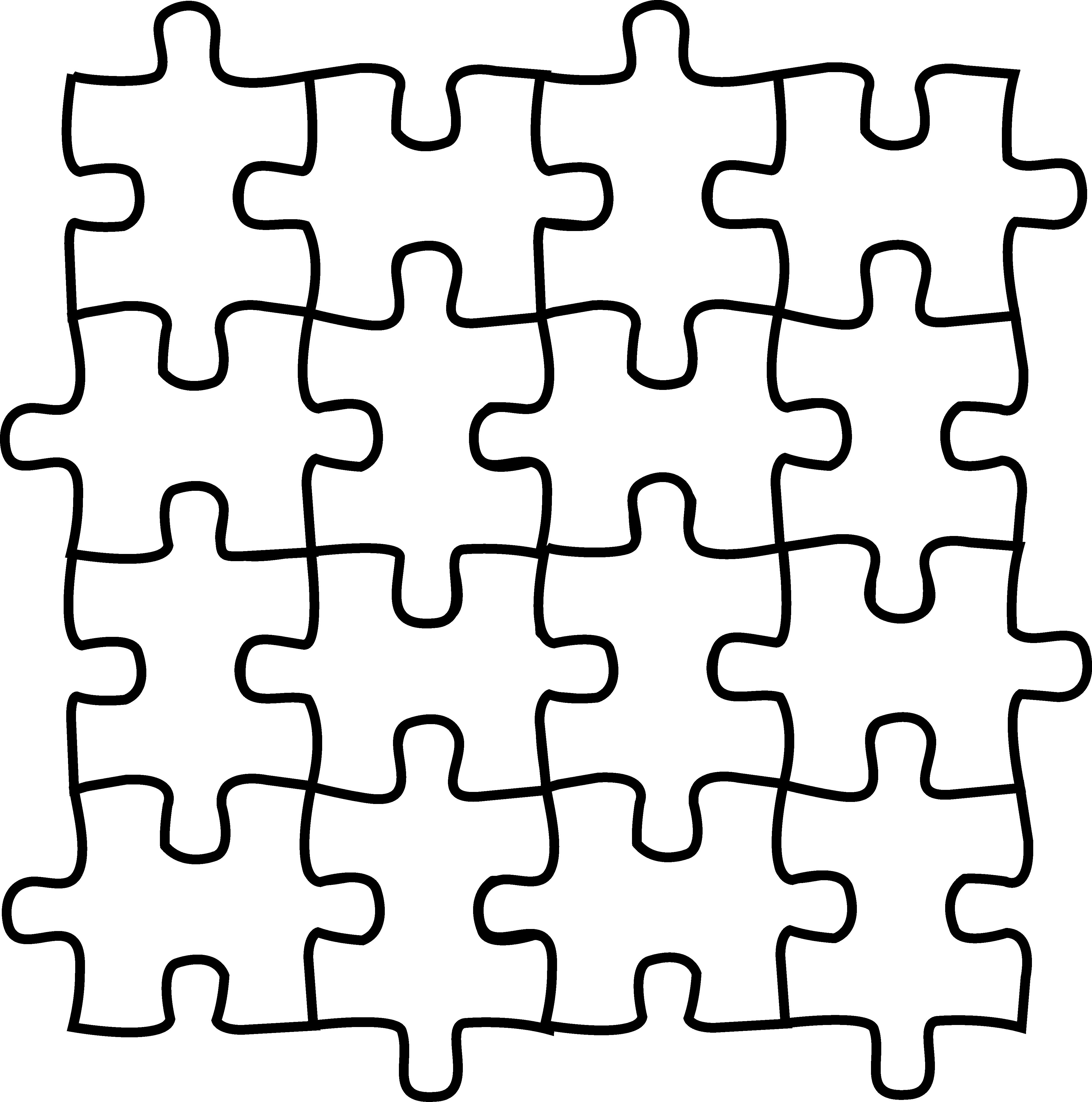 4254x4293 Puzzle Pieces Coloring Page