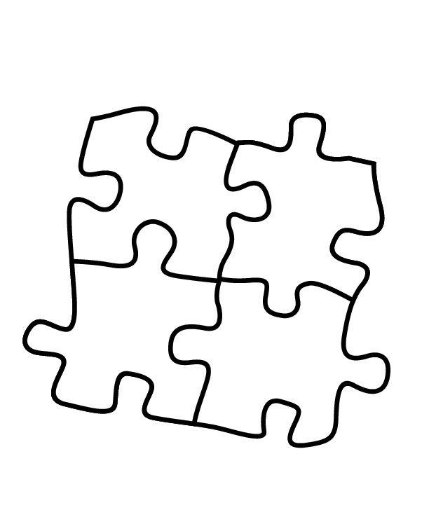 612x758 Puzzle Pieces Coloring Pages Crafts Puzzle Pieces