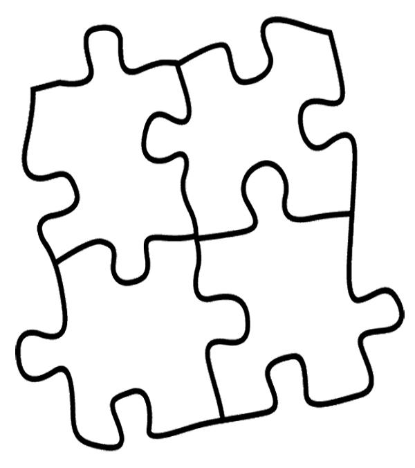 600x676 Puzzle Coloring Pages Puzzle Piece Coloring Page Puzzle Piece