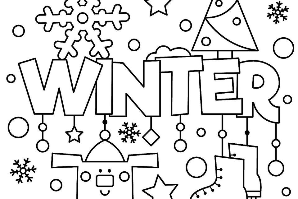 960x640 Winter Puzzle Coloring Pages Printable Winter Themed Activity