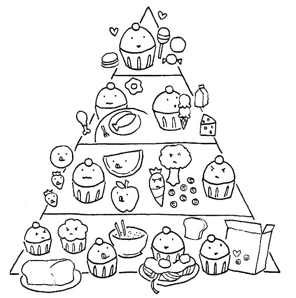 600x605 Food Pyramid Coloring Page Printable Blank Coloring Page For Food