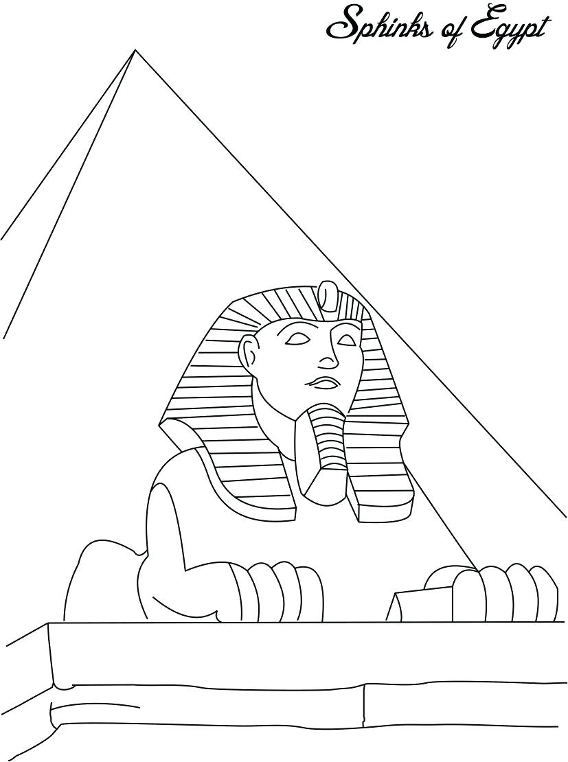 827x1110 Great Pyramids Coloring Page