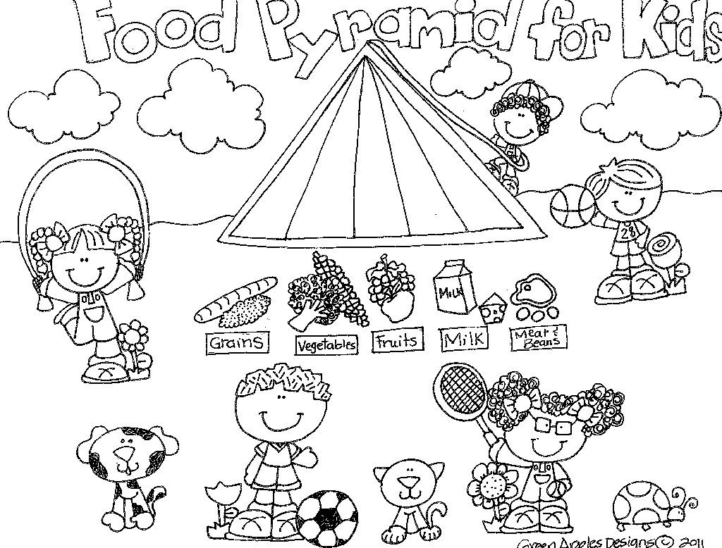 1024x778 Best Food Pyramid Coloring Image For Page Styles And Trend Food
