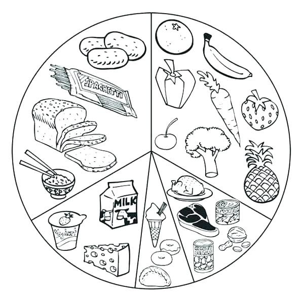 600x601 Healthy Foods Coloring Pages Healthy Food Pyramid Coloring Pages