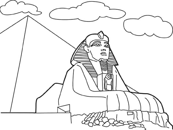 600x451 Sphinx Coloring Page Worldwonders Pyramid And Sphinx Coloring