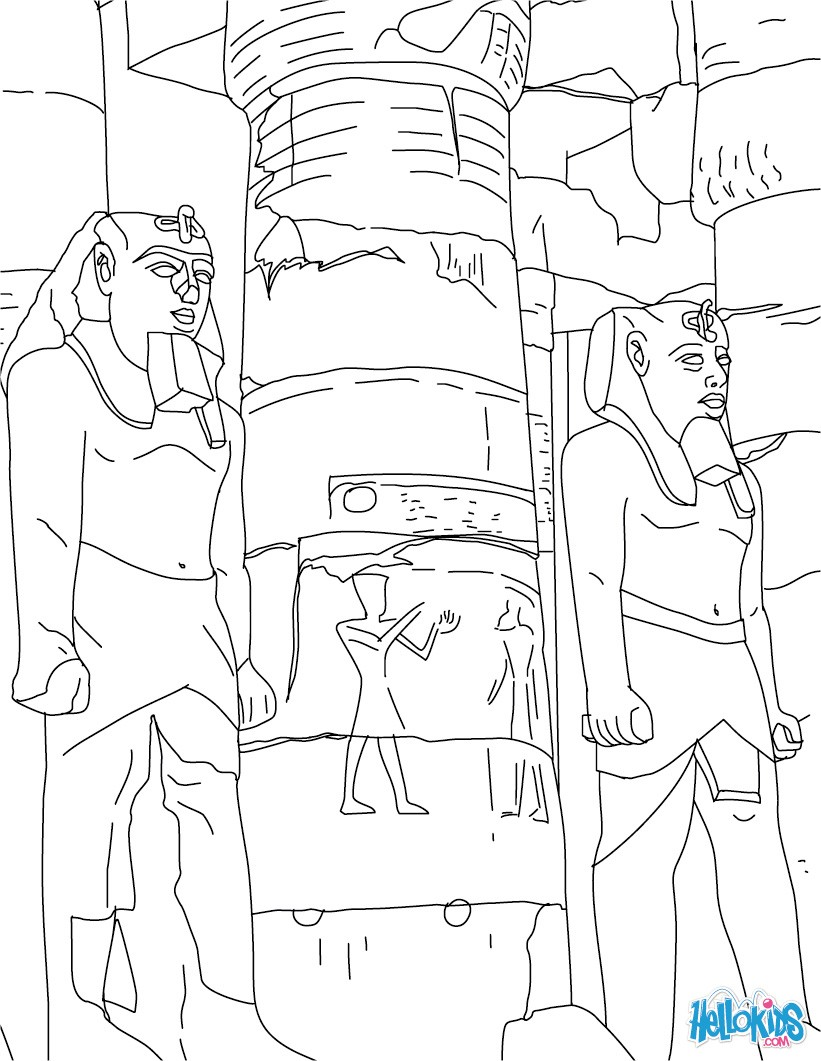 821x1061 Egypt Coloring Pages