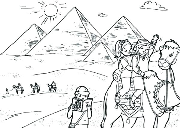 600x426 Egypt Coloring Page Coloring Page World Tourist Destination