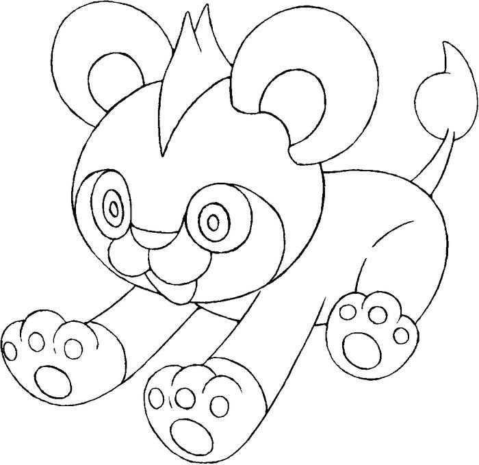 Pyroar Coloring Pages