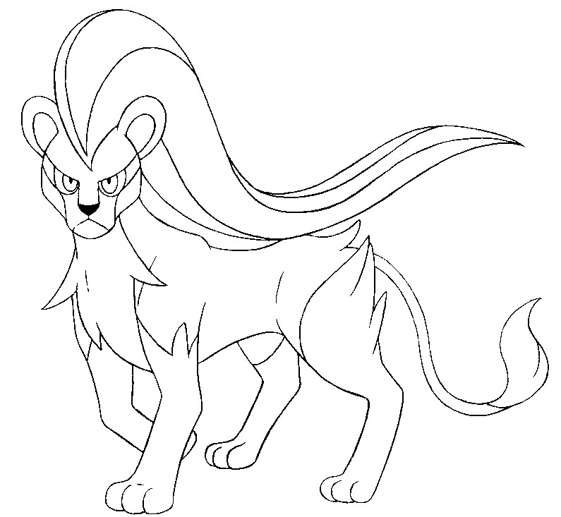795x733 Coloring Page Pokemon Female Form